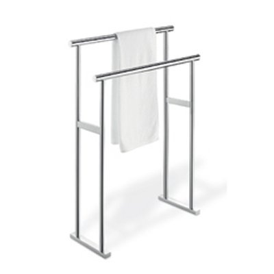 Zack Scala Fixed Towel Stand Polished Stainless Steel