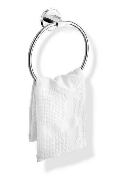 Zack Scala Towel Ring Polished Stainless Steel