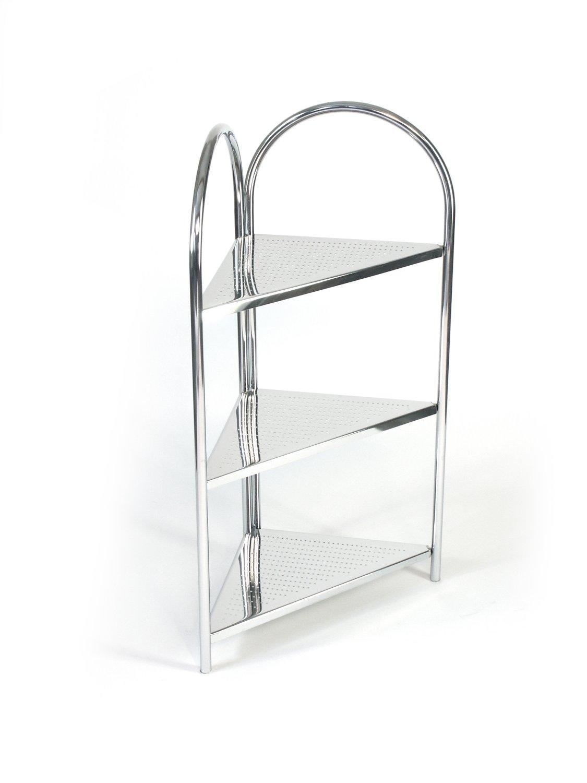 Bathroom Chrome 3 Tier Corner Shelf Unit