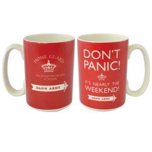 OFFICIAL DADS ARMY DON/'T PANIC CERAMIC COFFEE MUG CUP NEW IN GIFT BOX