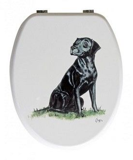 Looprints Smiling Lab Novelty Toilet Seat