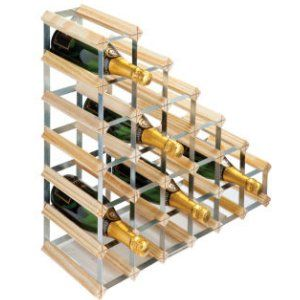 RTA 27 Bottle Under Stairs Wine Rack Assembled Natural Finish