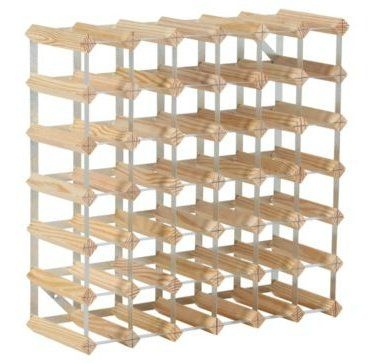 RTA 42 Bottle Assembled Natural Pine Wine Rack WNRK4109
