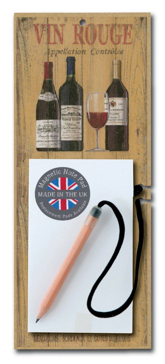 Vin Rouge Magnetic Notepad