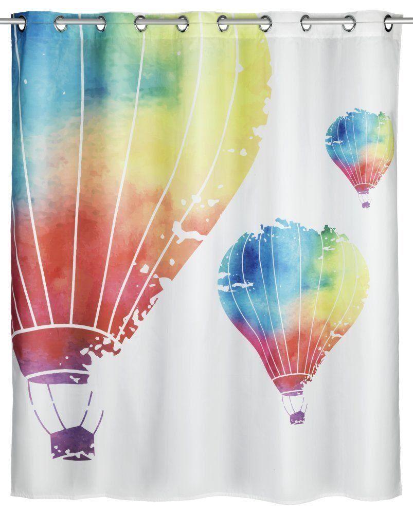Wenko Comfort Flex Hot Air Balloons Anti Mould Shower Curtain